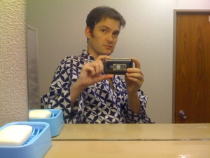 taking a bath in japan, yukata, kimono