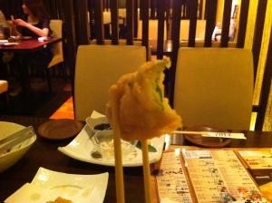 鯛と紫蘇の天ぷら