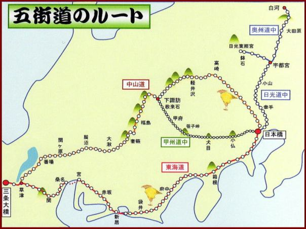 A map of the Go-kaido.