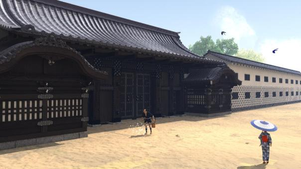 A CG recreation of the 因州池田家表門 Inshu Ikeda ke Omotemon (main gate to the upper residence of the Ikeda family - you can see the in Ueno Park. The original residence was in Daimyo Alley - ie; Marunouchi),