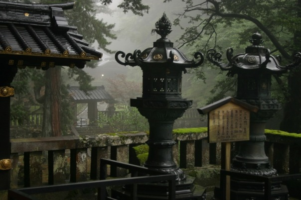 Copper lamps at Taiyūin. Love this shot because the mist reminds me of Nikkō and the ghostly B/W shots of Daitokuin.