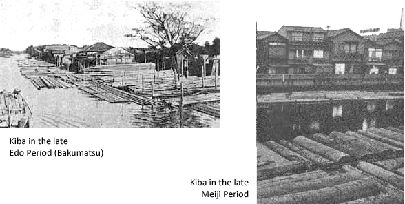 Fukagaw-Kiba in the Edo and Meiji Periods. Yup. It's pretty much just a freakin' lumberyard.