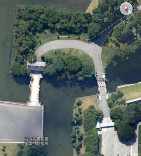 Imperial Palace Bridge Satellite