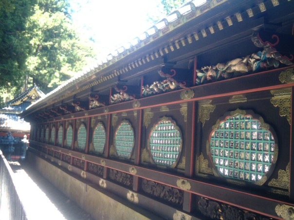 Sukibei (latticework fence) around the the honden (main hall).