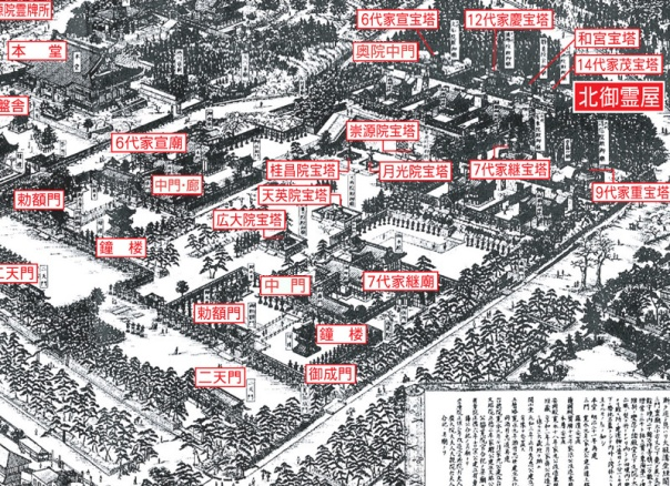 Here's a close up of the map above. The main structures are labeled for her pleasure.