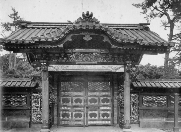 View of the backside of the Imperial Scroll Gate.