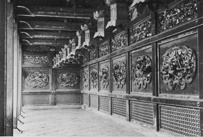 Inside the sayuro (the porticos on the left and right  side of the zenro) surrounding the main hall.