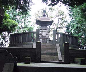 Iesada's Grave at Kan'ei-ji. Hist wife, Atsu-hime's grave is more popular! (But you'll probably never see either....