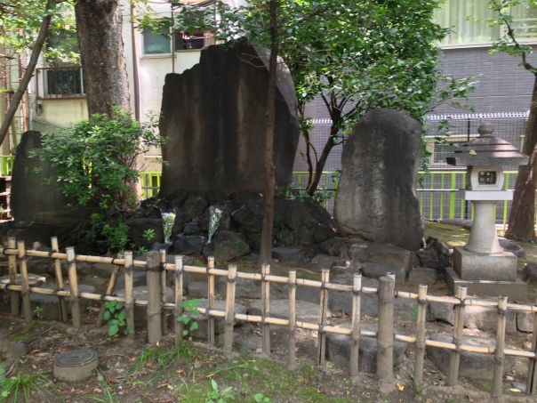 "The so-called ""Demise of Yoshida Shoin"" monument."