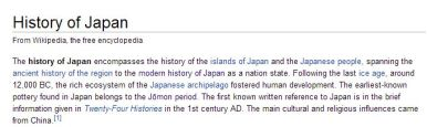 wiki - history of japan