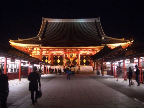 Senso-ji at night