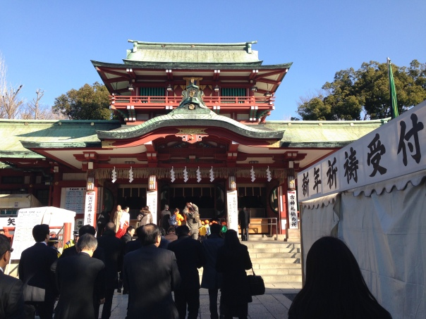 The main hall of Tomioka Hachimangu!