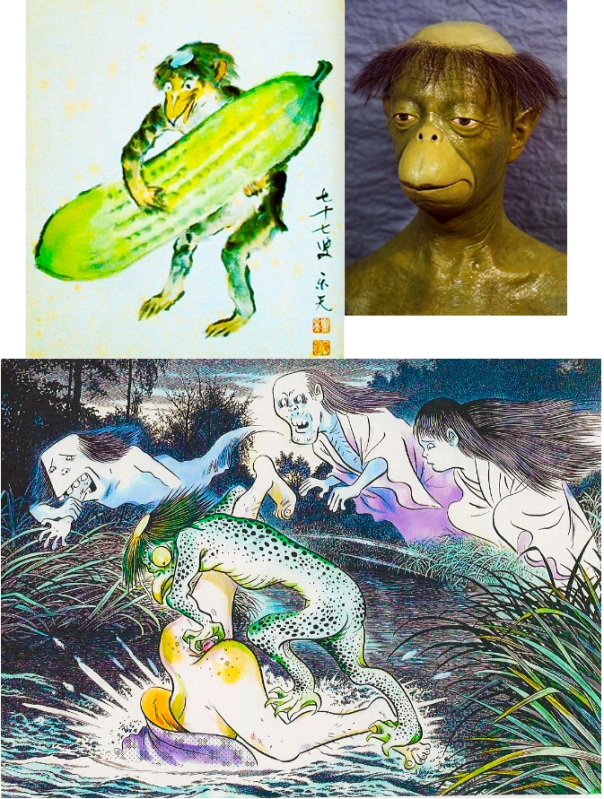 A few depictions of kappa including the much neglected ass raping kappa whose legends barely made it down to the modern era.  (I'm serious about that last point, actually...)