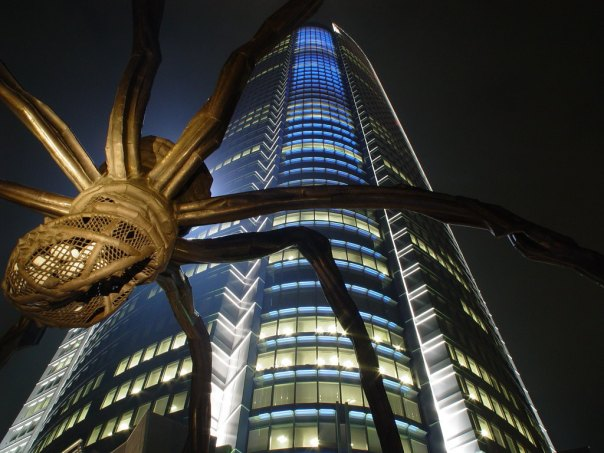 Mori Tower and the spider sculpture at Roppongi Hills