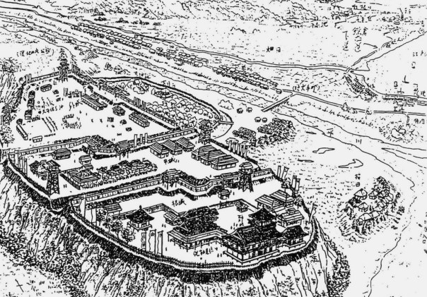 Ota Dokan's Edo Castle was probably something like this. Given the similarity of the terrain and the era, it's safe to assume the branch castle was very much the same. #SengokuKanto