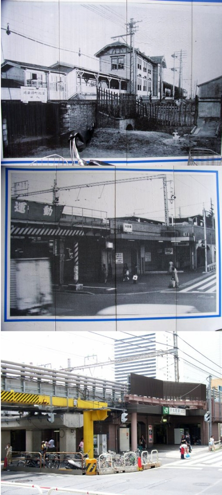 Hamamatsu-cho Station in 1909, 1941, and 1996.