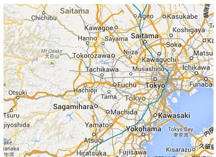 Map JAPAN THIS - Hachiōji map