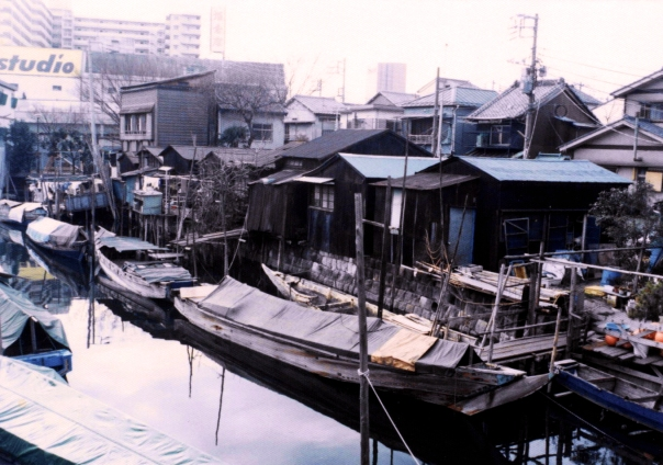 Tsukuda 1-chōme in January, 1988.