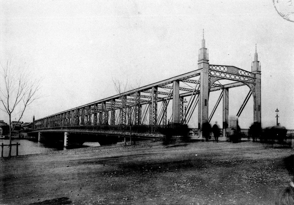 The truss bridge. It looks like shit to modern eyes, but I imagine Meiji people walking through it like a kid in a car wash.