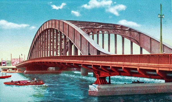 Originally the bridge was red as a warning to ships. But now the bridge is blue