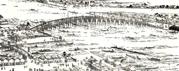 The closest thing I can find to a picture of the wooden bridge.