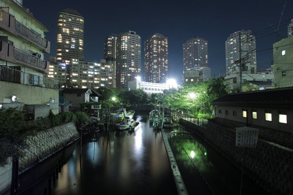 Tsukuda at night