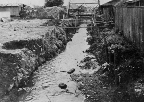 The Momozono River circa 1950.