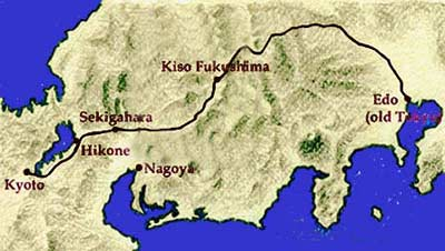 The Nakasendo Highway was the longest route, but there were sub-highways that linked these routes. I don't know the Roshigumi's exact route and it's not really important for our story.