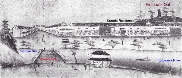 Akabanebashi in the Edo Period. My Patron who donate to this page get a private video tour of this area.