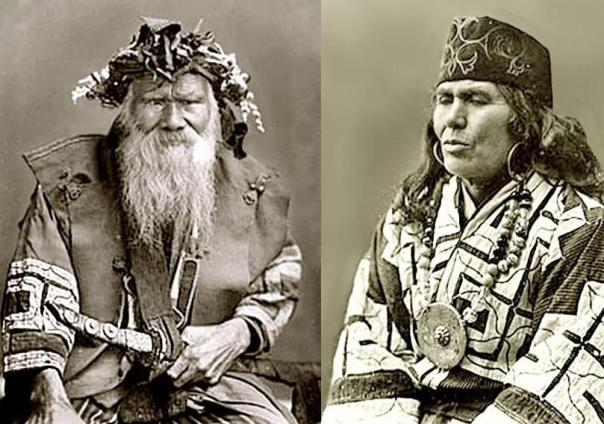 Two old Ainu dudes. (At least I think they're both dudes)