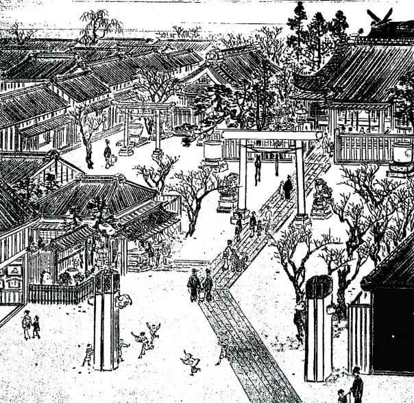 Shiogama Shrine in Shinbashi in the Meiji Period.
