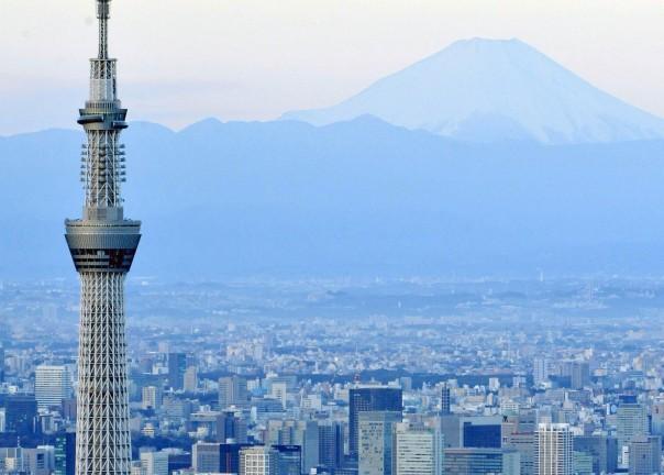 Tokyo Skytree and Mt. Fuji