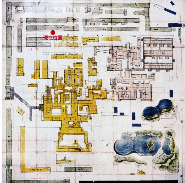 Layout of the upper residence of Sendai Domain.