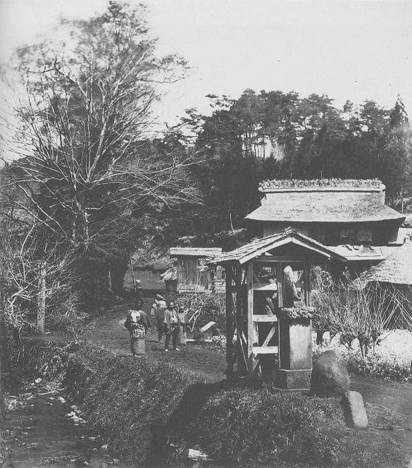 Road leading to Hachiōji village during the bakumatsu.